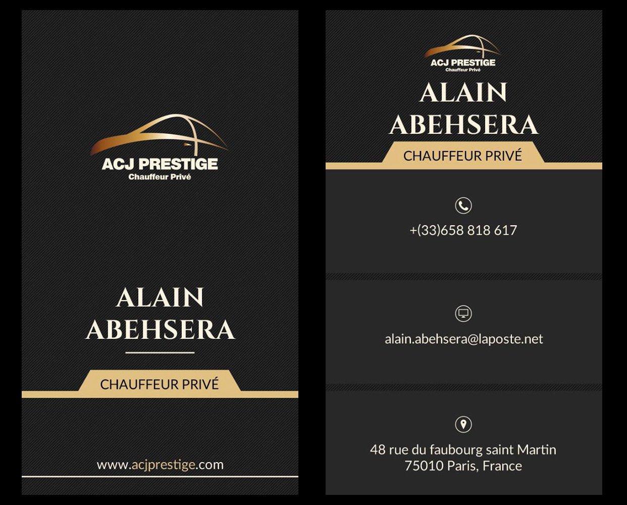 Acj Prestige Chauffeur privé Paris